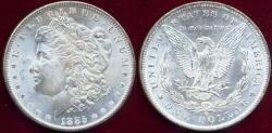 Us Coins - 1885-O MORGAN $1 MS65  BLAST WHITE LUSTER