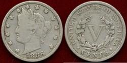 Us Coins - 1886 LIBERTY 5c ....   FINE