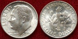Us Coins - 1947-D 10c ....... CHOICE  UNCIRCULATED