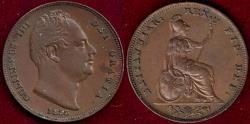 World Coins - GREAT BRITAIN 1835  FARTHING  AU