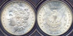 Us Coins - 1899-O MORGAN $1 PCGS MS65  WHITE ... High end!