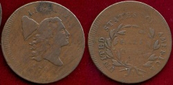 Us Coins - 1795 1/2c Pl.Edge, No Pole   VF