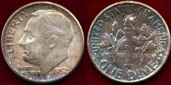 Us Coins - 1952 ROOSEVELT 10c  MS65 ..  VERY BEAUTIFUL COLORS
