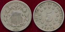 Us Coins - 1882 SHIELD 5c  VF