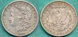 Us Coins - 1895-O MORGAN $1 .....  PREMIUM VERY FINE  PCGS VF30