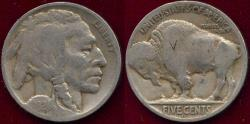Us Coins - 1924-D BUFFALO NICKEL GOOD... with V for Victory Counterstamp