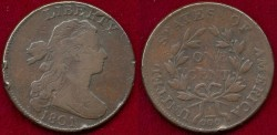 Us Coins - 1801  1/000  LARGE 1c ....  FINE