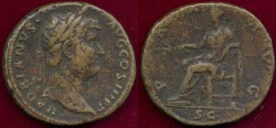 """Ancient Coins - HADRIAN 117-138 AD  SESTERTI""""US"""