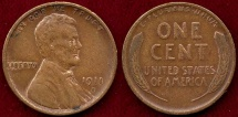 Us Coins - 1911-S LINCOLN 1c  VF