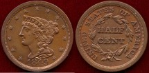 Us Coins - 1849  1/2c .... Choice UNCIRCULATED