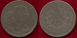 Us Coins - 1798/7 wide overdate   LARGE 1c   VG