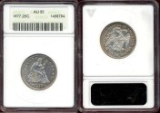 Us Coins - 1877 SEATED 25c .......  AU55