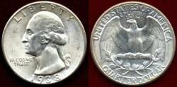 Us Coins - 1938  25c  GEM UNCIRCULATED  PCGS