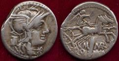 Ancient Coins - ROMAN REPUBLIC  134 BC  denarius    M. MARCIUS Mn.f.
