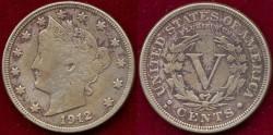 Us Coins - 1912-D   LIBERTY 5c .....  VERY FINE details