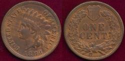 Us Coins - 1883 INDIAN 1c AU58