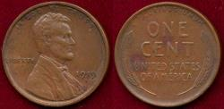 Us Coins - 1919-S LINCOLN 1c AU
