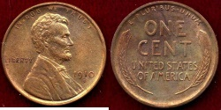 Us Coins - 1910-S LINCOLN 1c  MS65RB