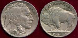 Us Coins - 1920 BUFFALO 5c XF45