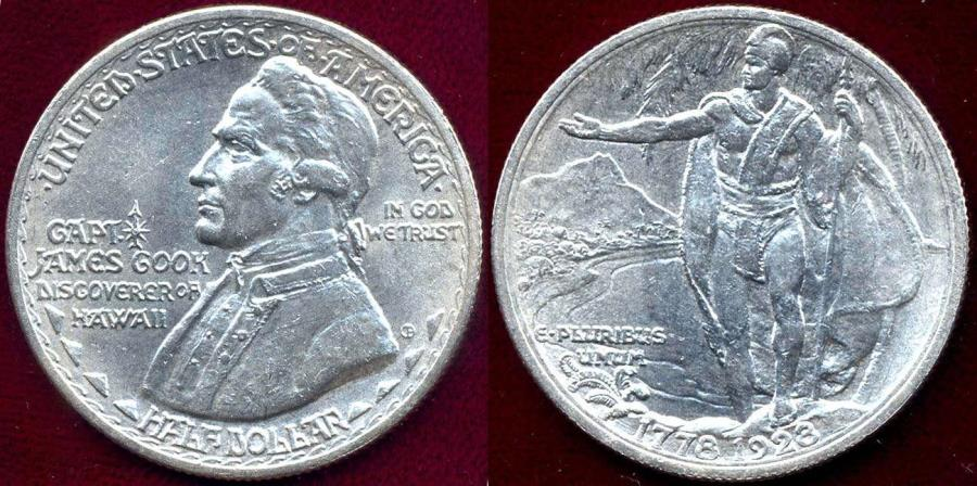 US Coins - HAWAII 1928 50c COMMEMORATIVE... MS64 WHITE