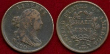 Us Coins - 1808  HALF CENT  XF45