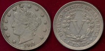 Us Coins - 1911 LIBERTY 5c   XF45