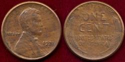Us Coins - 1921-S LINCOLN 1c  XF40