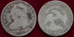 Us Coins - 1834 BUST 10c  VG