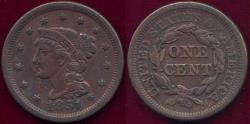 Us Coins - 1851 LARGE CENT VF