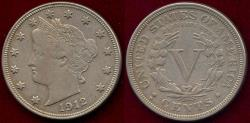Us Coins - 1912-D LIBERTY 5c  XF45