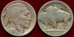 Us Coins - 1920-S BUFFALO 5c  VG VERY SHARP