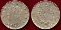 Us Coins - 1903 LIBERTY 5c AU