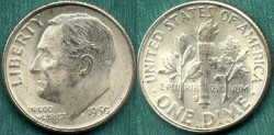 Us Coins - 1950-S 10c  CHOICE  UNCIRCULATED