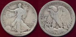 Us Coins - 1917-D OBV. Walking Liberty 50c  GOOD