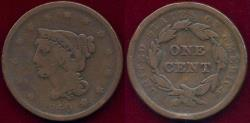 Us Coins - 1840 Large Date  LARGE CENT  VG
