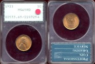Us Coins - 1921  1c  GEM  RED UNCIRCULATED