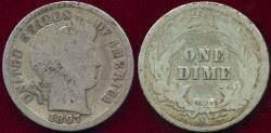 Us Coins - 1897-S BARBER DIME GOOD