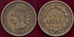 Us Coins - 1859 INDIAN 1c XF45