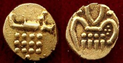 World Coins - INDIA ... PRINCELY STATES- COCHIN   GOLD Fanan