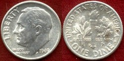 Us Coins - 1949-D  10c ....CHOICE  UNCIRCULATED