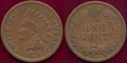 Us Coins - 1879 INDIAN 1c FINE