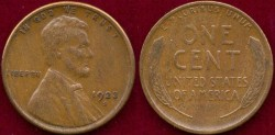 Us Coins - 1923-S  1c  EXTRA FINE