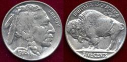 Us Coins - 1936 BUFFALO 5c  AU