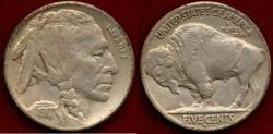 Us Coins - 1917-S BUFFALO 5c  ..  XF45