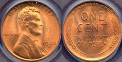 Us Coins - 1948-S LINCOLN 1c PCGS MS65RD