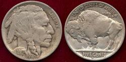 Us Coins - 1917-D BUFFALO 5c  AU55