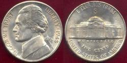 Us Coins - 1945-S JEFFERSON 5c MS65