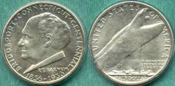 Us Coins - BRIDGEPORT 50c 1936.... GEM UNCIRCULATED  PCGS MS65