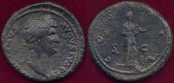 Ancient Coins - HADRIAN  117-138 AD  DUPONDIUS