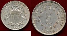 Us Coins - 1883 SHIELD 5c  AU